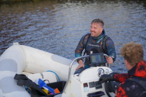 Roland klar til tur i havet